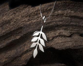 Ash Leaf Sterling Silver Necklace, Silver Leaf, Silver Leaf Necklace, Silver Leaf Pendant, Sterling Silver Leaf Jewellery