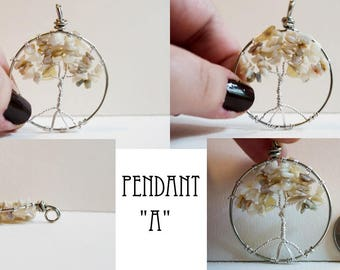 White Opal Tree Of Life Pendant