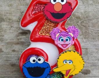 Elmo Birthday candle, Sesame Street Birthday Candle