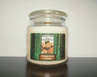 16 oz Soy Candle - Mackinac Island Fudge - The Michigan Candle Company