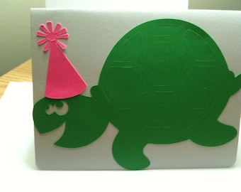 Turtle birthday cards set of 3