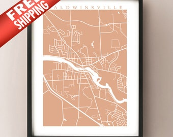 Baldwinsville, NY Map Print - Upstate New York