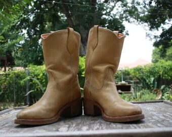 Buttercream FRYE women's mid calf BOOTS