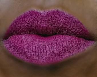 Matte Liquid Lipstick : ARCADIA. Berry Mauve lipstick. Vegan lipstick. Natural cosmetics. Vegan Makeup. Natural Makeup. Organic makeup.