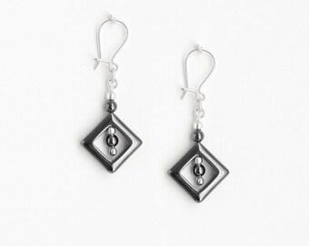 Earrings Hematite
