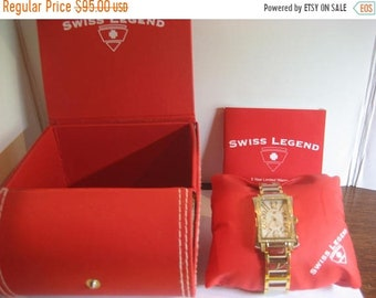 ON SALE Beautiful Swiss Legend Diamonds Swiss Quartz Watch Like New Condition With Box and papers Runs and Keeps time