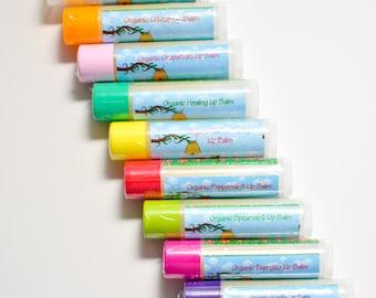5  Organic Lip Balm Lip Care- Homemade Lip Balm- Home Made Lip Balm- Beeswax Lip Balm- Lip Treatment- Best Chapstick- Best Lip Moisturizer