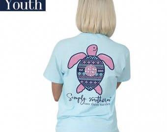 Simply Southern® Yth-SAVE-IKAT-MARINE