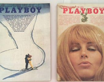 November and December of 1969 issues of Playboy Magazine