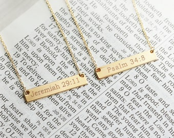 Christian Necklace Christian Jewelry Faith Necklace Religious Jewelry Bible Verse Necklace Baptism Gift Love Message - 4N