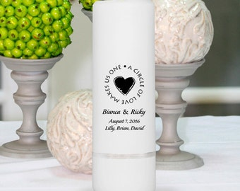 Wedding Candles - Personalized Wedding Candles - Unity Candles - GC305 H8