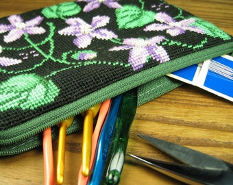 Lilac Flowers and Ivy Pouch