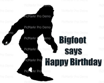 Bigfoot, Yeti, Sasquatch Birthday - Edible Cake and Cupcake Topper For Birthday's and Parties! - D21848