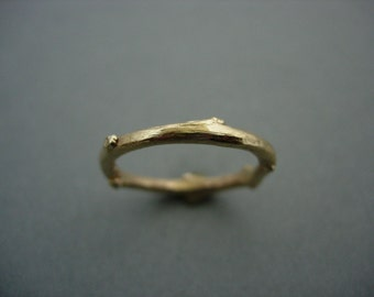 9ct gold twig ring
