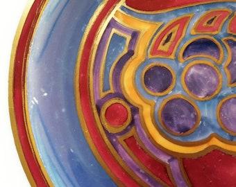 Grays Art Deco Plate, Grays Gloria Lustre Decorative Cake Plate, Susie Copper Design, Gordon Forsyth 1925