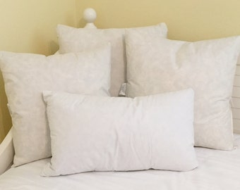 Down and Feather (10/90) Pillow Inserts - Square, Euro, Lumbar and Bolster Sizes