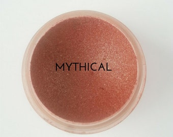 Mineral Eyeshadow Mythical Eye Shadow Cruelty Free Makeup Vegan Makeup Natural Cosmetics Organic Makeup Modern Ecoluxe Cosmetics Toronto six