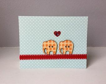 Handmade Elephant Love Card