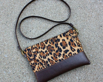 Leopard Print Clutch / Handbag / Crossbody