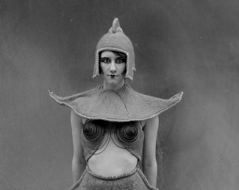 ALIEN ROBOT Outfit -- Needle Felted / costume / handmade / wool / wet felted / madonna / weird / alien / robot / sci -fi / metropolis / ooak