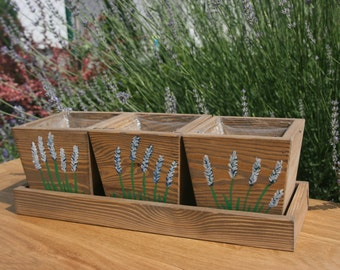 Wooden plantpots