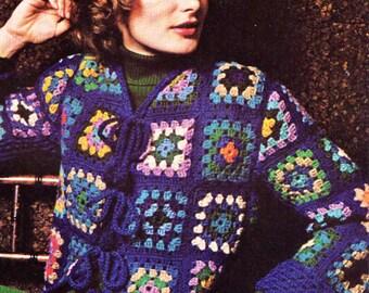 Cardigan Crochet Pattern, Crochet Jacket Pattern, Crochet Sweater Pattern,  PDF INSTANT Download Pattern (1106)