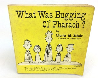 What Was Bugging Ol' Pharaoh Book Charles M Schulz Religious Catholic Comic 1964