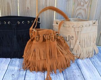 Fringe Purse - Vegan Handbag - Tassel Bag