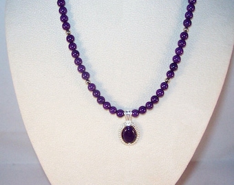 Purple Mountain Jade Necklace