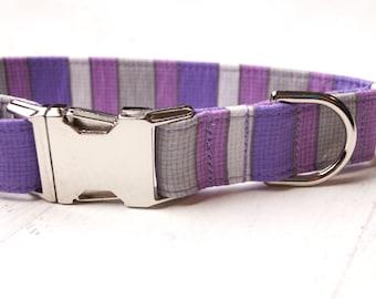 Purple Dog Collar - Cute Dog Collar - Summer Dog Collar - Female Dog Collar - Girl Dog Collar - Fabric Dog Collar - Unique Dog Collars - Pet