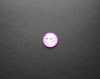"Pink Smiley Emoji Emoticon ""mocking"" 25 mm cabochon"