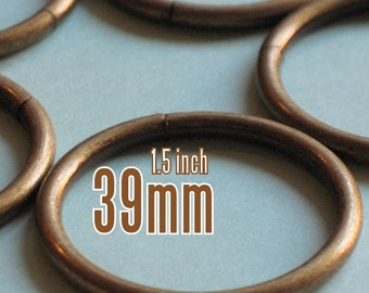 24 Pieces 1.5 inch / 39mm O Rings (available in Nickel, and Antique Brass Finish)