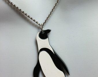 Laser cut acrylic 'Penguin' pendant