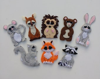 Forest friends finger puppet set