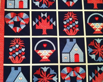 Cheater Quilt Fabric / Patriotic Fabric / USA Fabric / American Fabric / USA Fabric / Cotton Fabric / Red, White and Blue Fabric