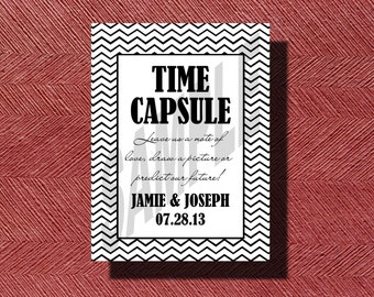 Unique Wedding Time Capsule Guest Book, Wedding Time Capsule Guestbook. Wedding Guestbook, Unique Wedding Guest Book, Printable Wedding Sign