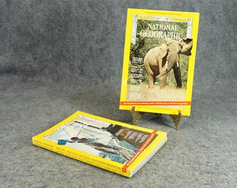 National Geographic Magazine 1969 Three Issues Months 2,4,6