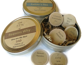 Gift for Dad, Fathers Day Gift, Dads Day, Daddy Gift Idea, Father's Day Gift Tin, Father Gift, I love you dad,