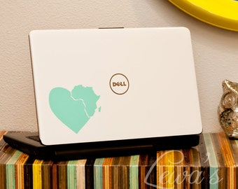 Heart in Africa Car or Laptop Decal - Supports Adoption