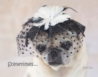 "5x7 SYMPATHY CARD, ""Sometimes...Life Can Hurt A Lot"", Sympathy Card by Pugs and Kisses"