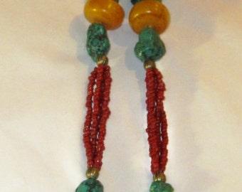 Antique Silver Tibetan Gau Necklace