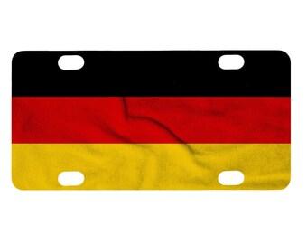Bicycle License Plate, Germany Flag Image Design, Mini License Plate, Bike Tag, German Flag