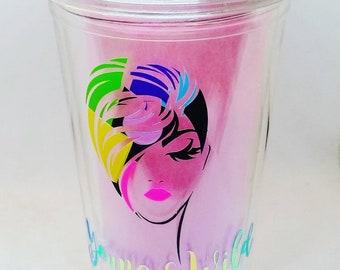 Double Wall Tumbler - Black Girl Magic- Water Cup -