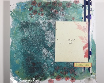 SPRING 12 x 12 scrapbook page (pre-made) - family ties