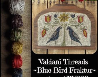 Valdani Thread Kit for PN229 Blue Bird Fraktur Punch Needle