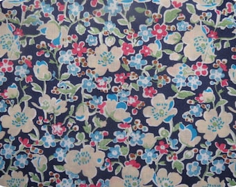 Liberty of London fabric Liberty john Navy fabric