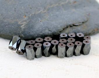 Hemetite faceted beads set of 19