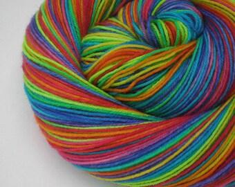 hand dyed sock yarn superwash merino nylon fingering GRATEFUL DYED 460 yds.