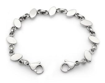 Medical ID Stainless Steel Oval Link Interchangeable Bracelet