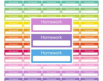 Printable Homework planner stickers Printable stickers Homework stickers Student Stickers College Student Planner stickers Life Planner